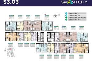 Mặt bằng tòa S3.03 Vinhomes Smart City